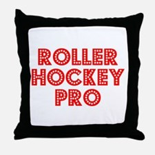 Retro Roller Hock.. (Red) Throw Pillow