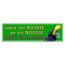 Woodie-Hoodie Bumper Bumper Bumper Sticker