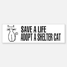 Adopt A Cat Bumper Bumper Bumper Sticker