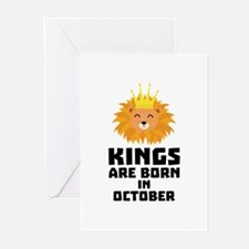 Kings are born in OCTOBER Czx1p Greeting Cards