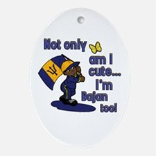Cute and Bajan! Oval Ornament
