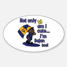 Cute and Bajan! Oval Decal
