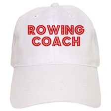 Retro Rowing Coach (Red) Baseball Cap