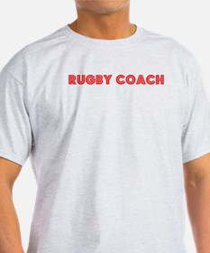 Retro Rugby Coach (Red) T-Shirt