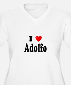 ADOLFO Womes Plus-Size V-Neck T-Shirt