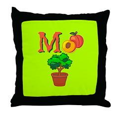 m+peach+bush w/o Throw Pillow