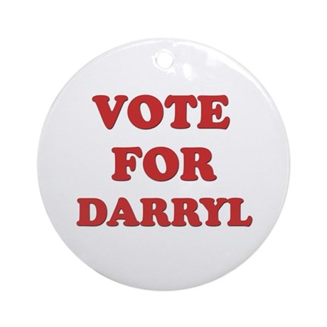 Vote for DARRYL Ornament (Round)