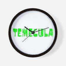 Temecula Faded (Green) Wall Clock