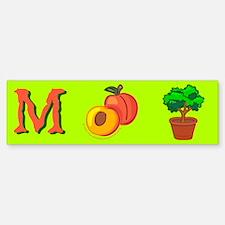 m+peach+bush w/o Bumper Bumper Bumper Sticker