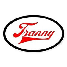 Tranny Oval Decal