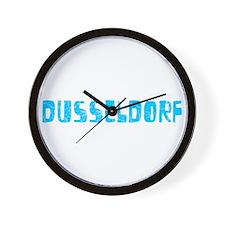 Dusseldorf Faded (Blue) Wall Clock
