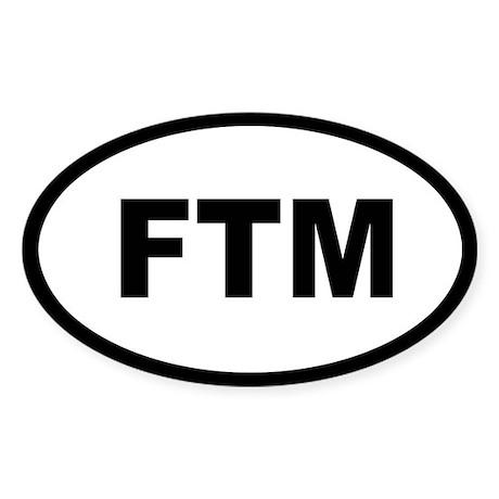 FTM Oval Sticker