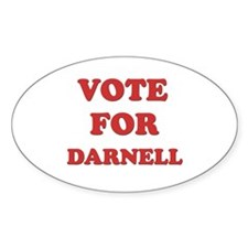 Vote for DARNELL Oval Decal