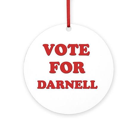 Vote for DARNELL Ornament (Round)