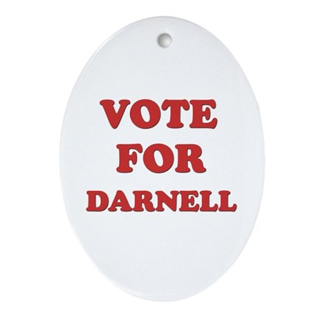 Vote for DARNELL Oval Ornament