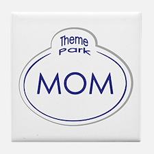 Theme Park Name Tag Orlando Tile Coaster