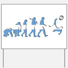 Argentinia Soccer Evolution Yard Sign