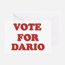 Vote for DARIO Greeting Card