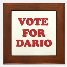 Vote for DARIO Framed Tile