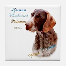 Wirehaired Best Friend1 Tile Coaster
