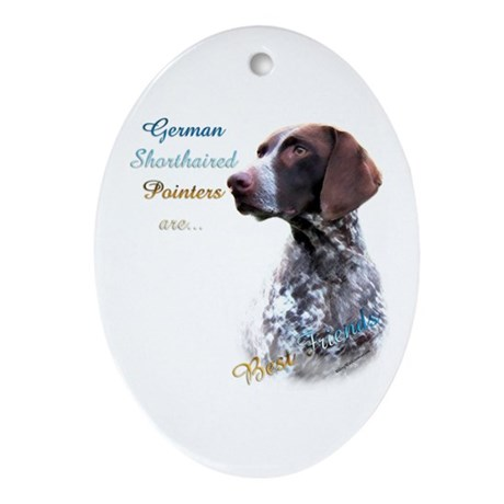 GSP Best Friend1 Oval Ornament