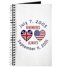 UK & USA Remembered Always Journal