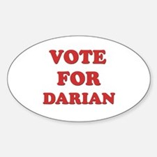 Vote for DARIAN Oval Decal