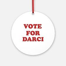 Vote for DARCI Ornament (Round)