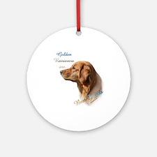 Golden Best Friend1 Ornament (Round)