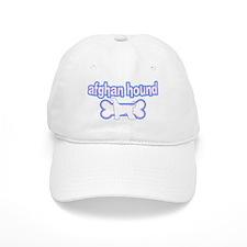 Powderpuff Afghan Hound Baseball Cap