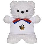 Caveman Penguin Teddy Bear