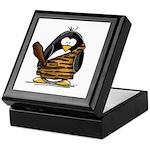 Caveman Penguin Keepsake Box