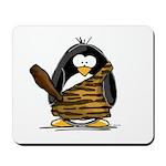 Caveman Penguin Mousepad