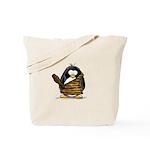Caveman Penguin Tote Bag
