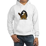 Caveman Penguin Hooded Sweatshirt