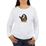 Caveman Penguin Women's Long Sleeve T-Shirt