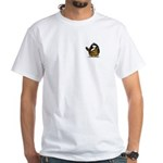 Caveman Penguin White T-Shirt