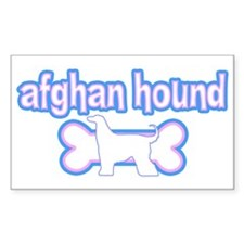 Powderpuff Afghan Hound Rectangle Decal