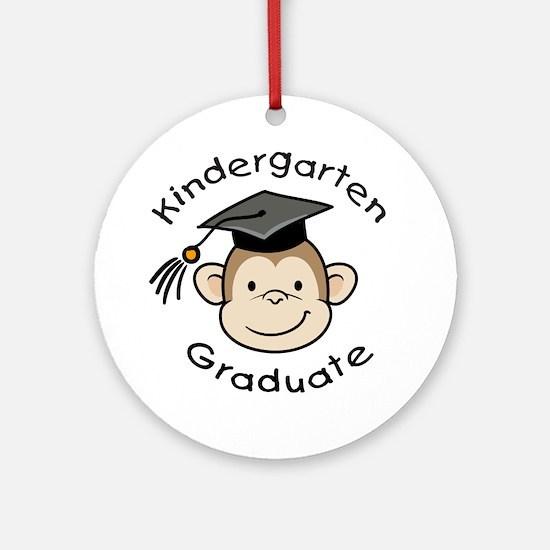 Monkey Kindergarten Graduate Ornament (Round)
