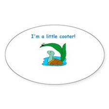 I'm a little cooter Oval Decal