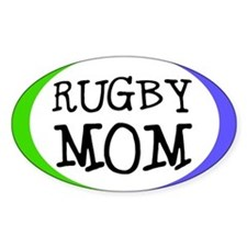 Rugby Mom Bumper Sticker (Small Oval)