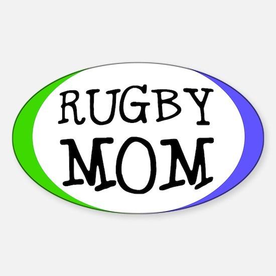 Rugby Mom Bumper Sticker (Small Oval)