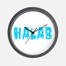 Halab Faded (Blue) Wall Clock