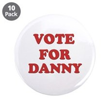 "Vote for DANNY 3.5"" Button (10 pack)"