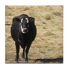 Grumpy Cow Tile Coaster