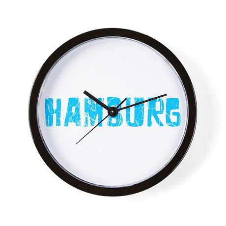 Hamburg Faded (Blue) Wall Clock