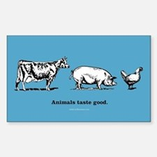 Animals Taste Good. Rectangle Decal
