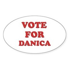Vote for DANICA Oval Decal