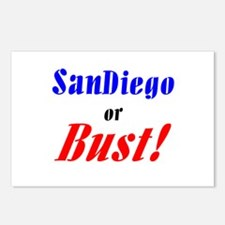 San Diego or Bust! Postcards (Package of 8)