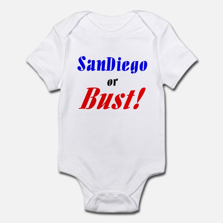 San Diego or Bust! Infant Bodysuit
